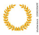 gold laurel wreath. vintage... | Shutterstock . vector #1038100699