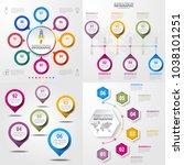 set of business infographics ... | Shutterstock .eps vector #1038101251