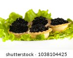 black sturgeon caviar in... | Shutterstock . vector #1038104425