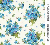 beautiful elegance forget me... | Shutterstock .eps vector #1038104977