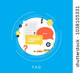 faq concept  frequently asked... | Shutterstock .eps vector #1038105331