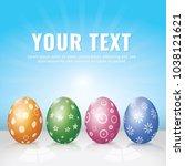 easter egg background | Shutterstock .eps vector #1038121621
