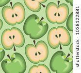 juicy apple pattern | Shutterstock .eps vector #1038122881
