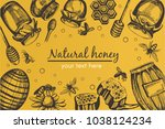 yellow vector background with... | Shutterstock .eps vector #1038124234