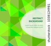 geometric abstract green... | Shutterstock .eps vector #1038124981