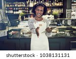 friendly young african... | Shutterstock . vector #1038131131