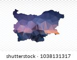 blue map polygonal bulgaria map....   Shutterstock .eps vector #1038131317