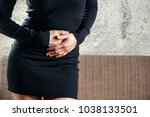 painful periods and menstrual... | Shutterstock . vector #1038133501