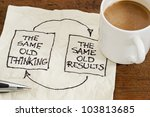 the same old thinking and...   Shutterstock . vector #103813685