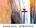 worker cleaning with ship by... | Shutterstock . vector #1038137314