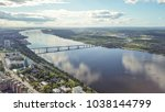 panoramic view of the city of... | Shutterstock . vector #1038144799