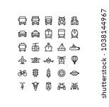 transportation outline icons | Shutterstock .eps vector #1038144967