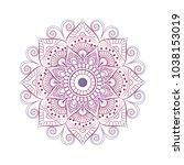 flower mandala. vintage...   Shutterstock .eps vector #1038153019