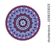 flower mandala. vintage...   Shutterstock .eps vector #1038153025
