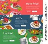 vector web banner templates... | Shutterstock .eps vector #1038153574