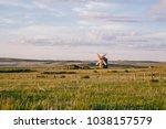 Alone Windmill In Desolate...