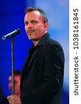 "Small photo of Milano Italy 06/14/2007, Duomo Square : Miguel Bose in concert during the musical event ""Festivalbar 2007""."