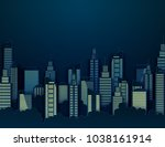 paper skyscrapers. achitectural ...   Shutterstock .eps vector #1038161914