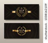 vip golden invitation template  ... | Shutterstock .eps vector #1038162109