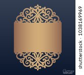 wedding invitation with lace... | Shutterstock .eps vector #1038169969