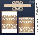 laser cut wedding invitation... | Shutterstock .eps vector #1038169975