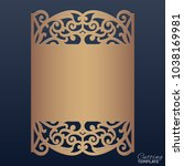 wedding invitation with lace... | Shutterstock .eps vector #1038169981