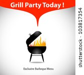 grill or barbecue vector... | Shutterstock .eps vector #103817354