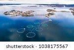 salmon fish farm. bergen ... | Shutterstock . vector #1038175567