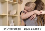 little girl firmly and with... | Shutterstock . vector #1038183559