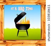 vector grill illustration in... | Shutterstock .eps vector #103818611