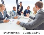 business team meeting. people... | Shutterstock . vector #1038188347