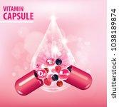 berry medicine   drug   vitamin ... | Shutterstock .eps vector #1038189874