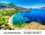turunc bay in marmaris | Shutterstock . vector #1038190357