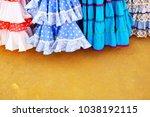 flamenco fashion full of color  ...   Shutterstock . vector #1038192115