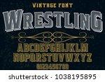 font alphabet typeface...   Shutterstock .eps vector #1038195895