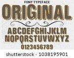 font alphabet typeface... | Shutterstock .eps vector #1038195901