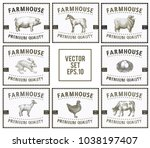 Labels With Farm Animals. Set...