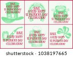 hand drawn vector set of... | Shutterstock .eps vector #1038197665