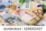 study  check the euro banknote... | Shutterstock . vector #1038201427