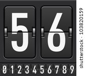 numbers from mechanical... | Shutterstock .eps vector #103820159