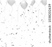 white and white baloons on the... | Shutterstock . vector #1038202639