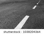 asphalt road with marking lines ...   Shutterstock . vector #1038204364