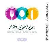 Abstract restaurant menu design with cutlery signs logo | Shutterstock vector #1038212569