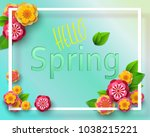 spring background with green... | Shutterstock .eps vector #1038215221