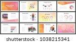 business presentation templates.... | Shutterstock .eps vector #1038215341