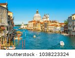 grand canal in venice on a... | Shutterstock . vector #1038223324