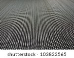 A Metal Curtin From A Low Angle