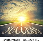 road of the success. the way... | Shutterstock . vector #1038226417
