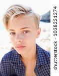 beauty portrait of adolescent... | Shutterstock . vector #1038231274
