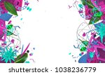 colorful creative frame with... | Shutterstock . vector #1038236779